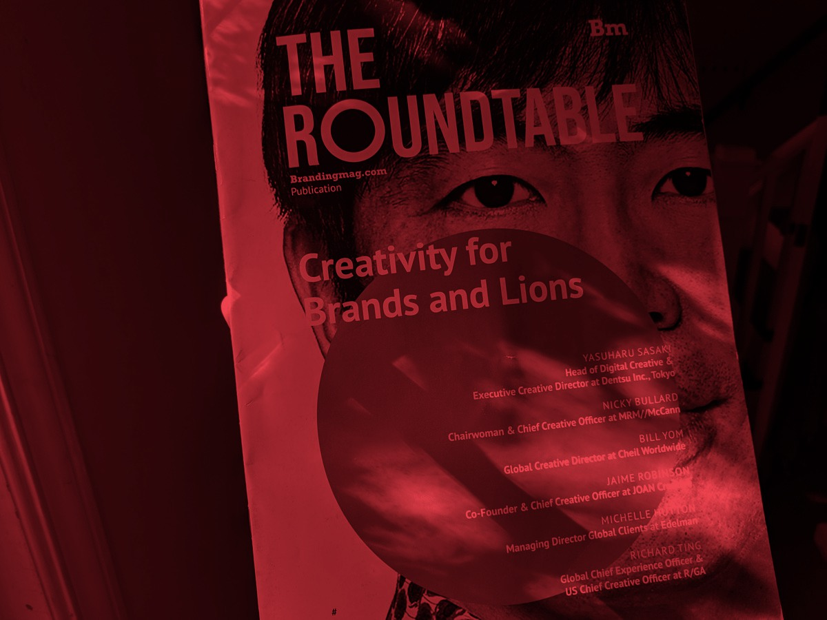 Magazine cover for The Roundtable marking a special issue on creativity and Cannes Lions.